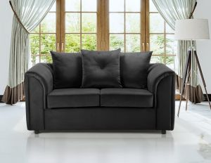 Velvet Black 2 Seater Dorchester Sofa