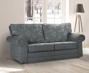 Fabric Grey 3 Dundee Sofa With Silver Leaves