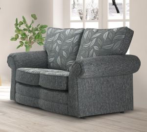 Fabric Grey 2 Dundee Sofa With Silver Leaves