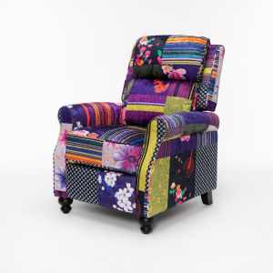 Fabric Patchwork Mary Recliner Chair