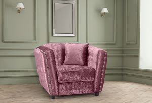 Crushed Velvet Mulberry Imperia Armchair