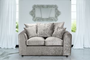 Crushed Velvet Silver 2 Seater Jessica Sofa