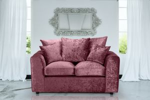 Crushed Velvet Mulberry 2 Seater Jessica Sofa