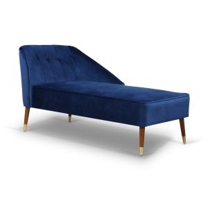 Velvet Blue Marilyn Right-Hand Facing Chaise Lounge