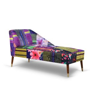 Fabric Patchwork Marilyn Chaise Lounge