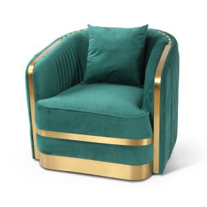 Velvet Emerald Green Miami Occasional Chair