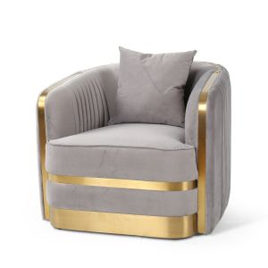 Velvet Light Grey Miami Occasional Chair