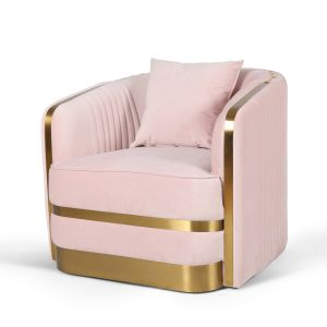 Velvet Pink Miami Occasional Chair