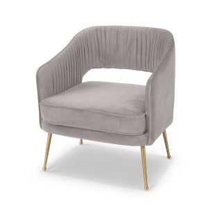 Velvet Light Grey Mirabella Occasional Chair