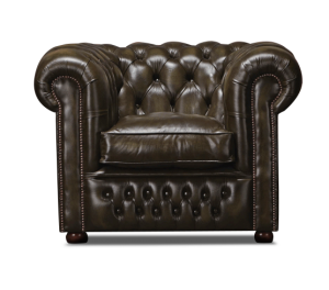 Leather Chesterfield Brown 1 Seater Nilson Sofa