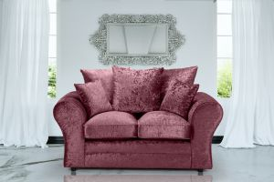 Crushed Velvet Mulberry 2 Seater Sophie Sofa