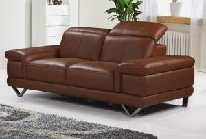 Genuine Leather Brown 2 Seater Loreto Sofa