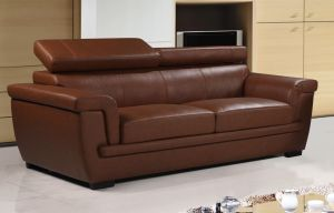 Genuine Leather Brown 3 Seater Saluzzo Sofa