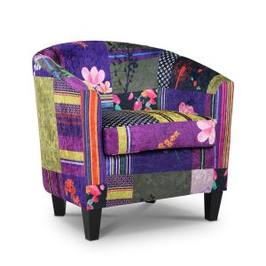 Fabric Patchwork Tricia Tub Chair