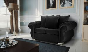 Velvet Black 2 Seater Westwood Sofa