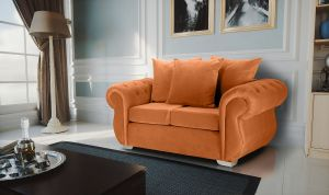 Velvet Burnt Orange 2 Seater Westwood Sofa