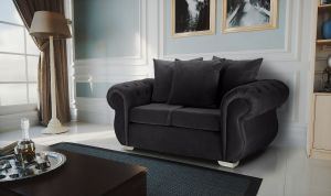 Velvet Dark Grey 2 Seater Westwood Sofa
