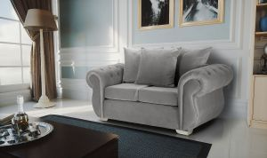 Velvet Light Grey 2 Seater Westwood Sofa