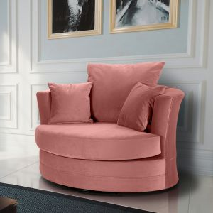 Velvet Dusky Pink Chelsea Cuddle Chair