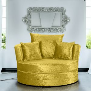 Crushed Velvet Gold Chelsea Cuddle Chair