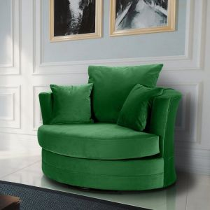 Velvet Emerald Green Chelsea Cuddle Chair