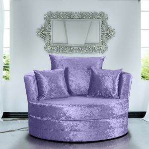 Crushed Velvet Lavender Chelsea Cuddle Chair